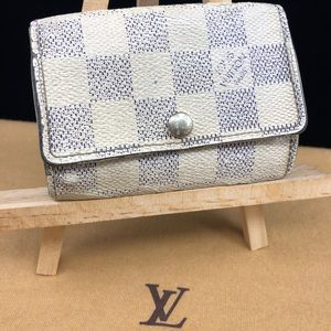 LV325 Damier Arur Canvas 6 key holder case
